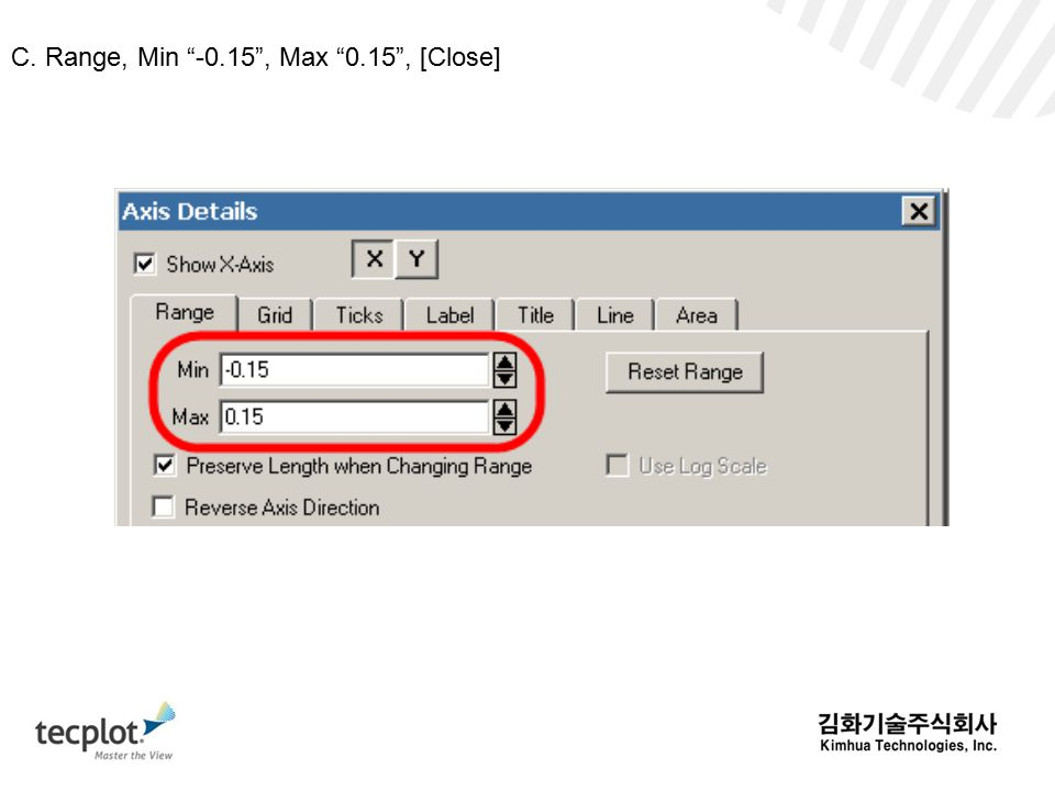 C. Range, Min -0.15 , Max 0.15 , [Close]